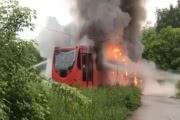 В Казани молния подожгла трамвай