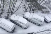 В Мурманске снова выпал снег