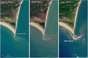 Загадочное рождение острова в Северной Каролине на снимках НАСА